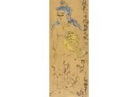 woman figure of saraswati by shiko munakata