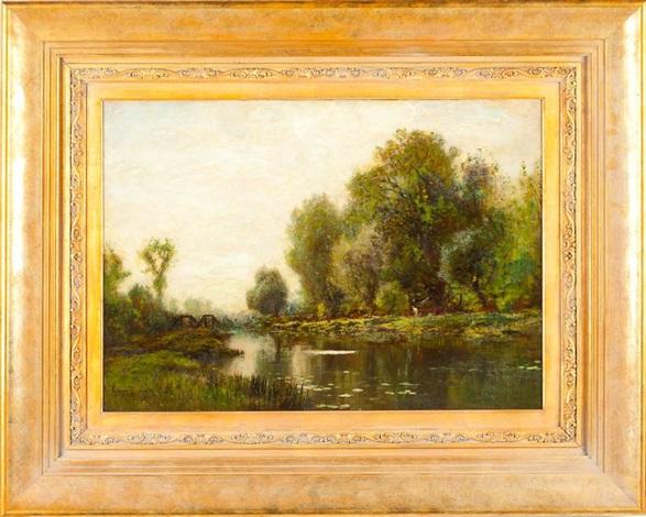 summer landscape by arthur parton
