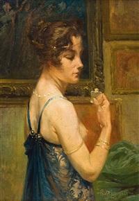 dame au petit flacon de parfum by henri privat-livemont