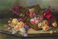 stilleben mit rosen und flieder by austrian school (20)