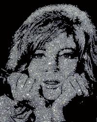 monica vitti (from pictures of diamonds) by vik muniz