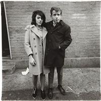 teenage couple on hudson street, n.y.c by diane arbus