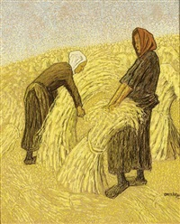 the hay harvest by cornelis albert van assendelft