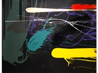 vertical dusk - horizontal dawn (2 works) by bruce mclean