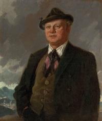 porträt des sängers richard mayr by alfred gerstenbrand