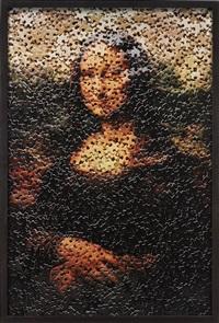mona lisa, after leonardo da vinci (gordian puzzles) by vik muniz