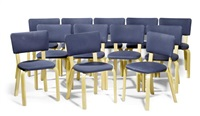 suite de douze chaises (model 62) (set of 12) by alvar aalto and maija heikinheimo