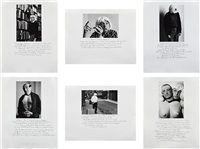 who is sidney sherman? (set of 6) by duane michals