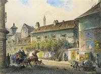milchwagen vor dem ratzenstadl by johann wilhelm frey