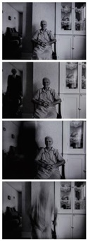 death comes to the old lady (4 works) by duane michals