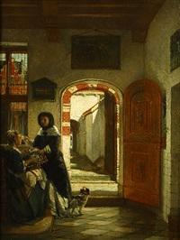 deux femmes by philip lodewijk jacob frederik sadée