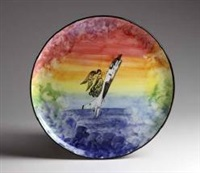 super sonic angels plate by ultra violet