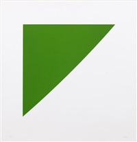 green curve with radius of 20 (from for meyer schapiro) by ellsworth kelly