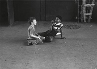 boys playing on the street by roy decarava