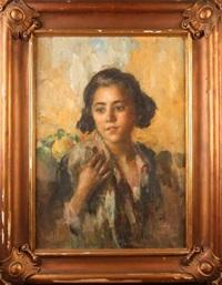 portrait de jeune fille by rinaldo agazzi
