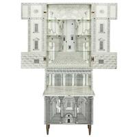 architettura secretary bookcase, designed, issued 1989 by gio ponti and piero fornasetti