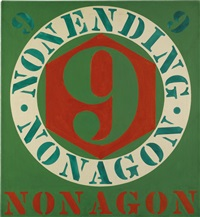 the erred nonagon by robert indiana