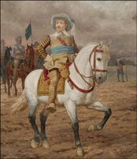 kustaa ii adolf hevosineen (gustaf ii adolf and his horse) by thorvald rasmussen