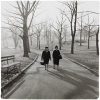 two ladies walking in central park, n.y.c by diane arbus