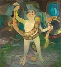 boy with boa by dana schutz