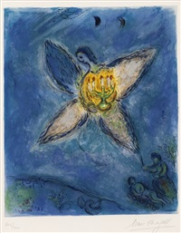 l'ange au chandelier by charles sorlier by marc chagall