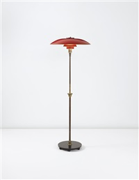 early adjustable floor lamp, with type 5/3 shades by poul henningsen