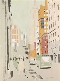 broadway by fairfield porter