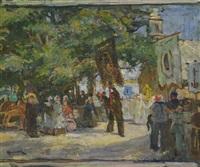 procession en bretagne by lucien simon