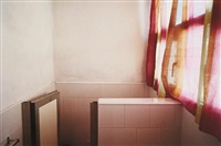 untitled (bathroom with pink curtain, cuba) by william eggleston
