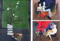 natürmort (+ 2 figüratif kompozisyon; 3 works) by mustafa ayaz