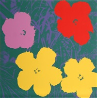 flowers 6 by andy warhol