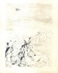 sur la plage à berneval by pierre-auguste renoir