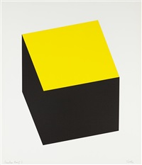 yellow/black (from series of ten lithographs) by ellsworth kelly