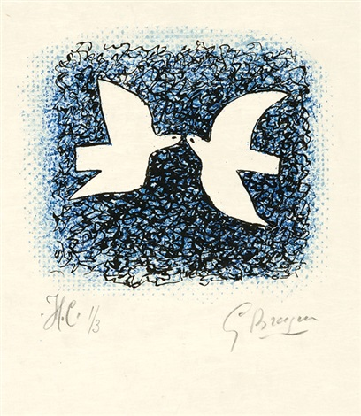 couple doiseaux la rapace pl 7 18 2 works from lettera amorosa by georges braque