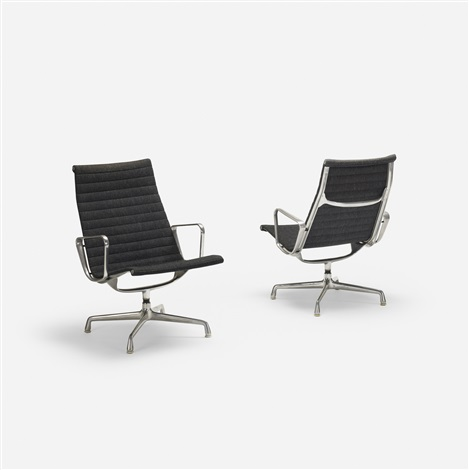 Aluminum Group Lounge Chairs Pair Von Charles And Ray Eames Auf Artnet