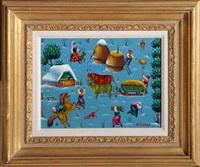 pastoral scene by ljubomir milinkov