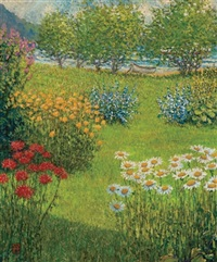 the perennial garden, vermont by wally ames