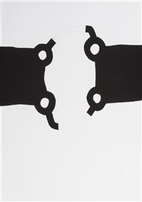competition and harmony (from the official arts portfolio of the xxivth olympiad, seoul, korea) by eduardo chillida