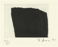 2 sheets: 3 and 9 (2 works from videy afangar series) by richard serra