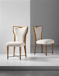 pair of rare chairs by gio ponti