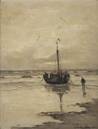 a bomschuit at low tide by gerhard arij ludwig morgenstjerne munthe