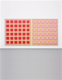 red diptych ii by dan walsh