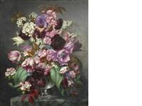 spring flowers in a vase by john e. nicholls
