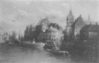 harbor scene by carlo chiostri
