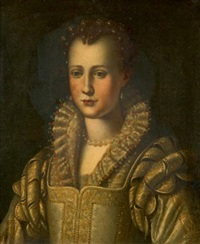 portrait d'eleonora de medicis by alessandro di cristofano allori