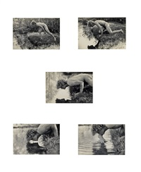 narcissus (suite of 5) by duane michals