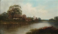 on the roding, essex by w. richards