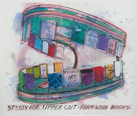 study for upper cut foam wood books by dennis oppenheim