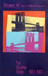 the brooklyn bridge by andy warhol