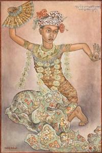 balinese dancer by anak agung gede sobrat